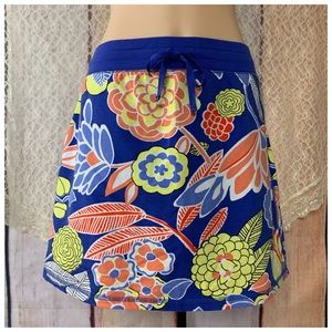 FuN Skirt Short Skort Periwinkle Bright Floral MP